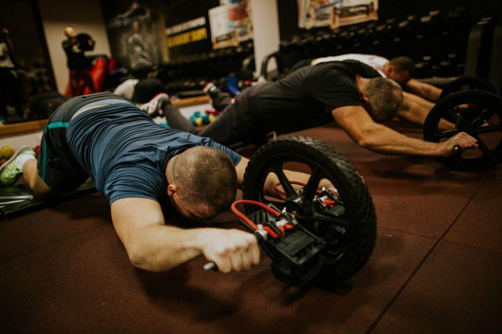 equipamento ab wheel roda abdominal