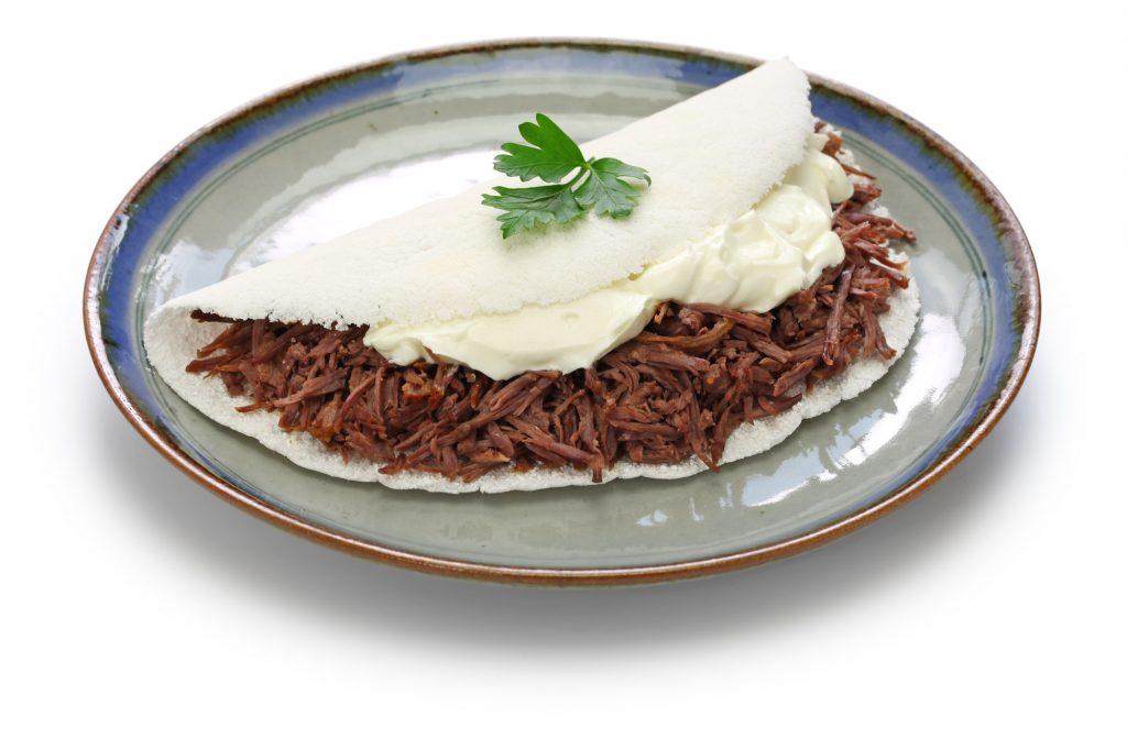 tapioca com carne seca